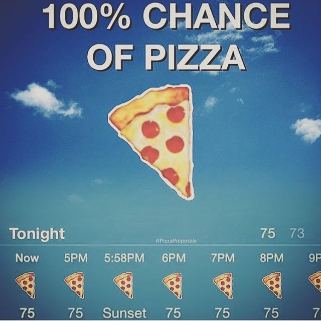 Our kinda weather! Stop on in for happy hour $1 dumplings and try our two new pizzas 🍕 ☔️ #pizzaweather