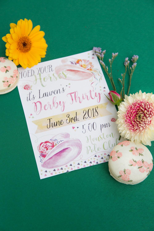 Derby Thirty Invitation by Ashlynn Elliff
