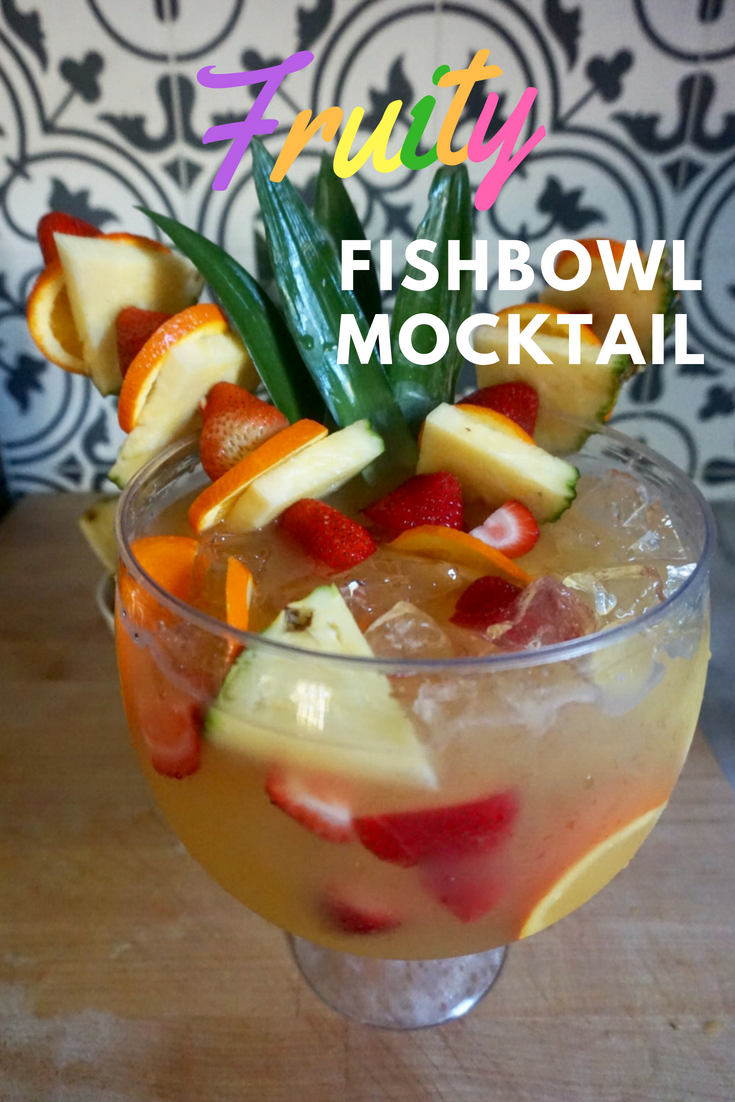 fruity fishbowl summer mocktail recipe