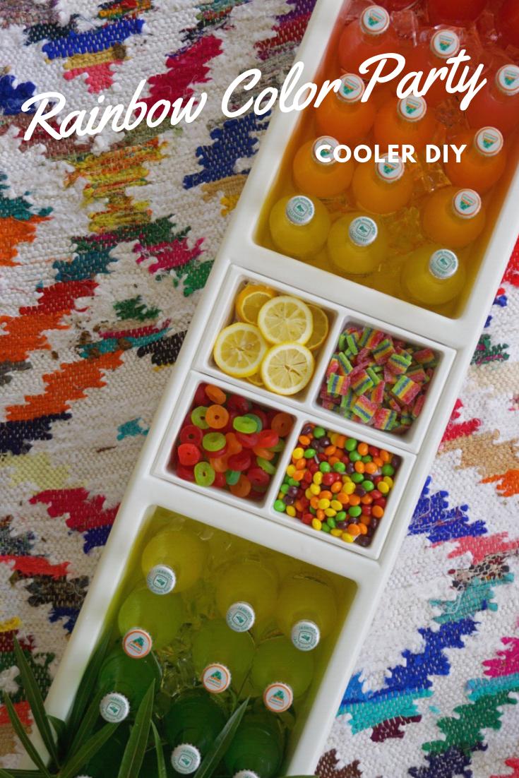 Rainbow Color Party Cooler DIY