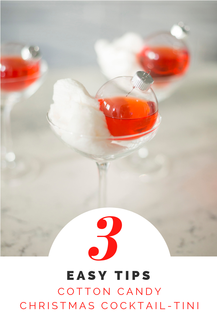 Cotton Candy Christmas Cocktail-tini