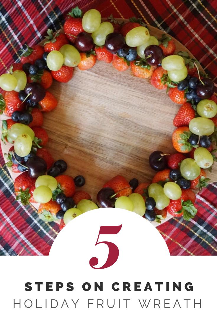 Holiday Fruit Wreath Board