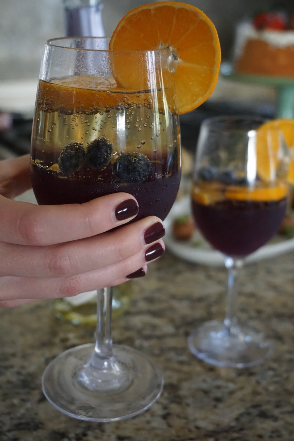 Easy Sangria Jello & Berries