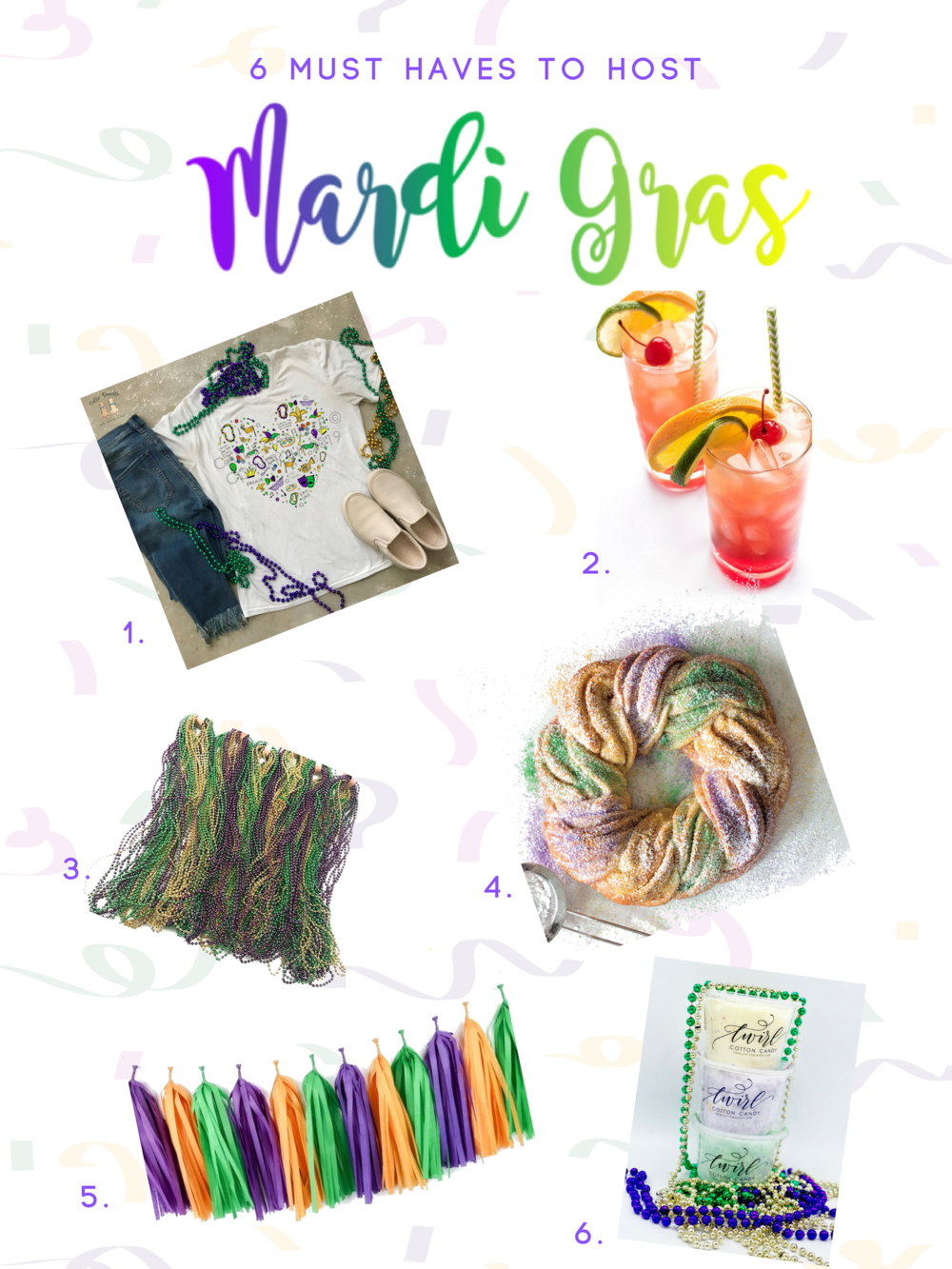 Mardi Gras - Things You Need to Party - Toast from the Host