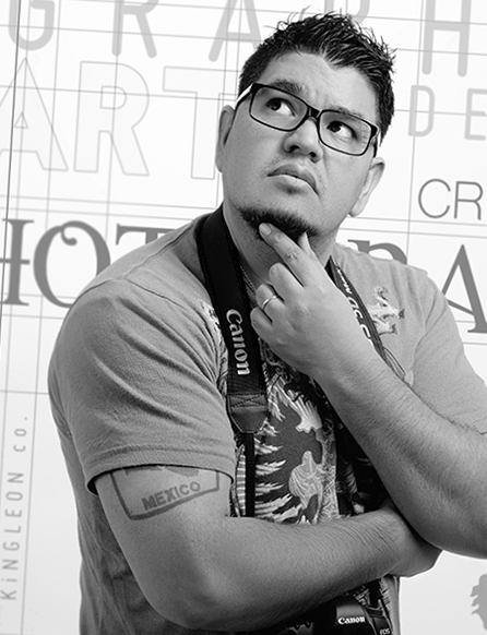 "Emmanuel ""El Bro"" Mascorro - UX / Art Director - A multi-talented millennial creative force whose hunger to do and learn more is only rivaled by his, well, his hunger."
