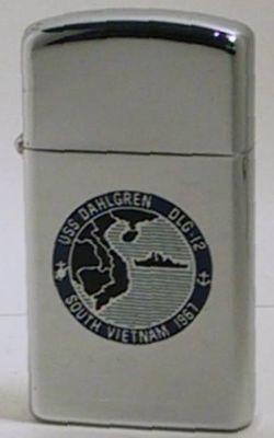 1966 slim Zippo forUSS Dahlgren DLG-12, a guided missile destroyer