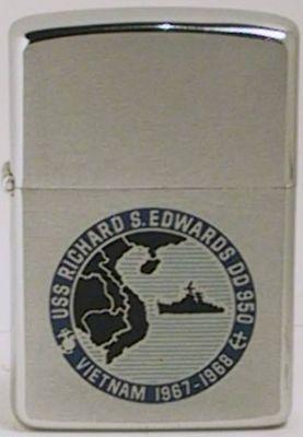 USS Richard S. Edwards DD 950 destroyer on a 1967 Zippo