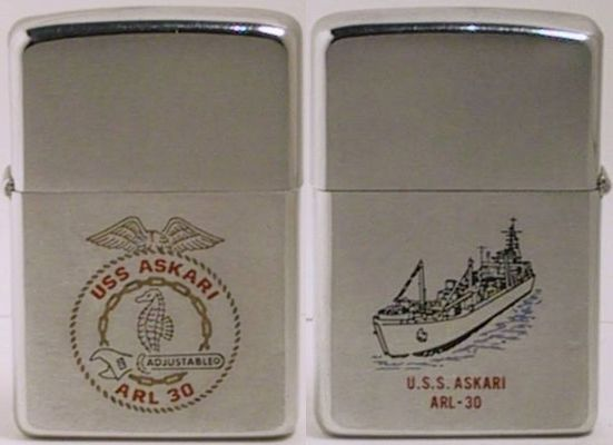 1969 Zippo for the USS Askari which provided repair and other support servicesfor the Riverine forces in the Mekong Delta