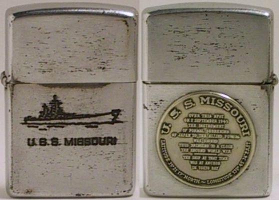 1954-55 Zippo USS Missouri Surrender