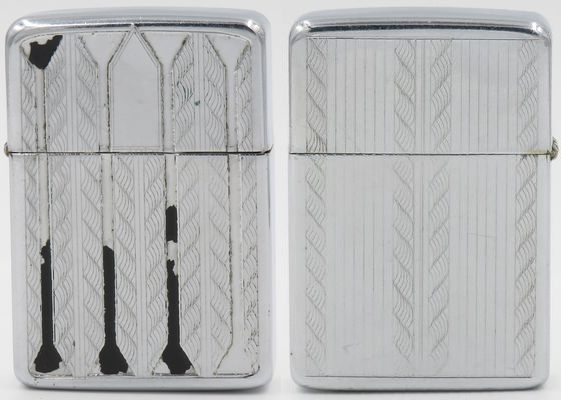 1938 Belle Kogan chrome Zippo with traces of original black paint