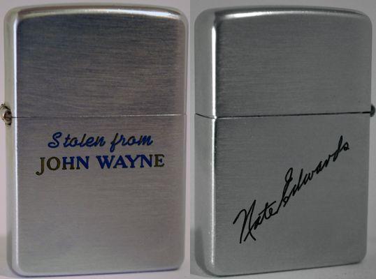 1956 Zippo JohnWayne Nate Edwards