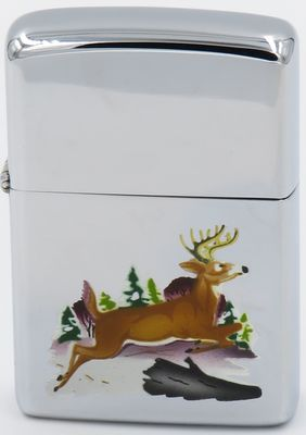 1959 Town & Country Zippo with a hand-painted leaping deer