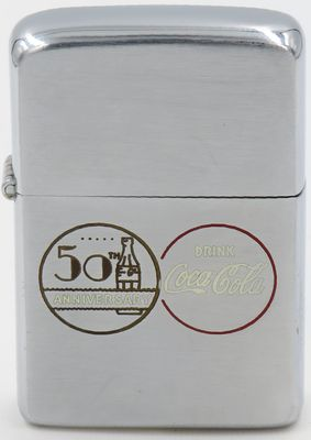 This 1956 Coke Zippo commemorates the 50th Anniversary of the Coca-Cola Company
