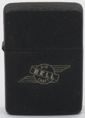 1942-45 black crackle Zippo Bell Aircraft