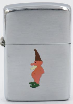 Rare 1946-47 Town & Country Zippo with a bearded gnome