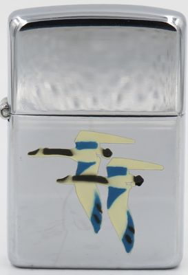 "1946-49 Town & Country Zippo with the ""Geese"",  , one of the first of   eight   Town & Country production models"