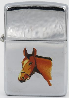 "1946-49 Town & Country Zippo with a horse head.  The ""Horse"" is  one of the first of   eight   Town & Country production models"