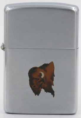 Rare 1948-49  Town & Country Zippo with a  Buffalo Head
