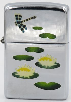 1946-49 high polish Zippol with Town & Country lily pond
