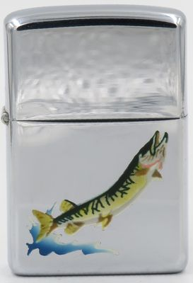 1956 Town & Country Zippo with the image of a sturgeon