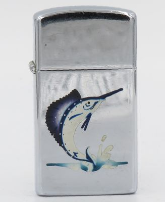 1958 slim Town & Country Zippo with a sailfish