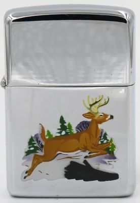 1966 transitional Town & Country Zippo with a leaping deer
