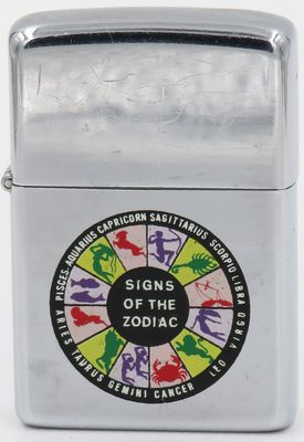 Very rare 1968 transitional Town & Country prototype Zippo with the Signs of the Zodiac
