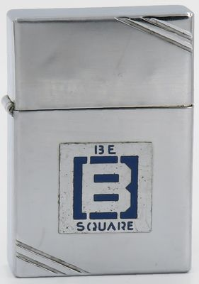 "1936 metallique Zippo with the ""B Square"" logo of Barnsdall Oil Company  which discovered the Barnsdall or Bigheart Oil Field near Tulsa Oklahoma in 1916"