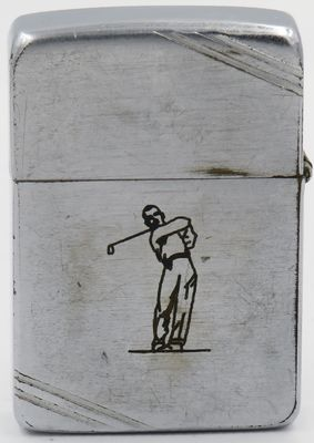 "1940-41 Zippo with line drawn Sports Series ""Golfer"""