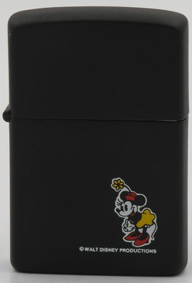 1984 prototype full size Zippo with Minnie Mouse on matte black finish