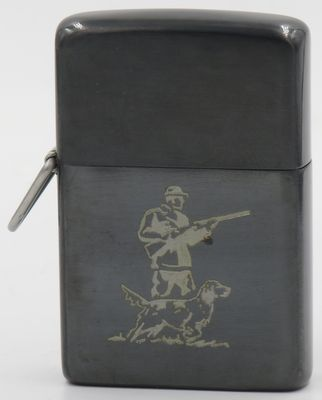 1952 loss proof gunmetal Hunter with Dog.JPG