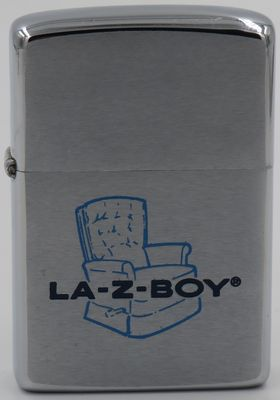 1972 Zippo with a graphic of the famous La-Z-Boy easy chair