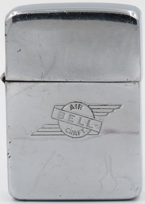 1937-1942 Zippo with Bell Aircraft logo.  This lighter has no diagonal slashes