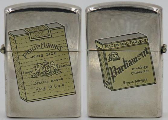 1950s Sterling Lighter Phillip Morris cigarettes