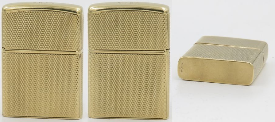 "14K gold Tiffany lighter with Zippo insert. Fine mesh design with initials ""JS"" engraved on the top"