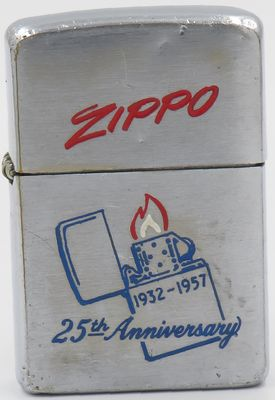 1957 25th Anniversary Zippo on lid Harry A Baker.JPG