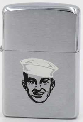 1960 Zippo with sailor wearing a Dixie Cup hat