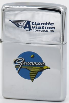 1961 T&C Zippo for Grumman Atlantic Aviation Corporation