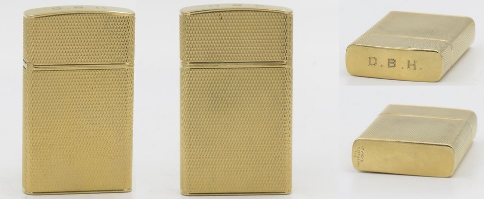 1960's Cleef & Arpel 14K Gold lighter with a fine mesh and a slim Zippo insert