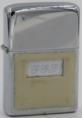 1976 test model Zippo with a single Ultralite panel attached to the case.  The initials GGB are those of George G Blaisdell, the founder of Zippo Mfg. Co.