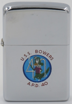 1956 Town & Country Zippo for the USS Bowers, a destroyer escort ship
