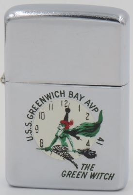 1958 Zippo.  The USS Greenwich Bay was a sea plane tender