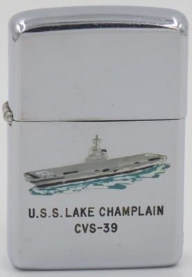 USS Lake Champlain was an antisubmarine aircraft carrier.  The T&C Zippo is from 1959