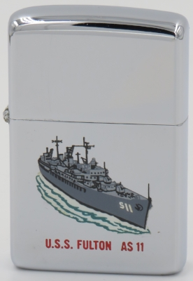 The USS Fulton was a submarine tender.  The T&C Zippo is dated 1966