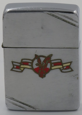 1940-41 Metallique Zippo with Flying Eagle with streamers logo