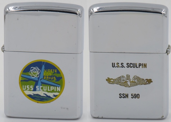 USS Sculpin submarineZippo is dated 1965.  A sculpin asgrotesque looking fish