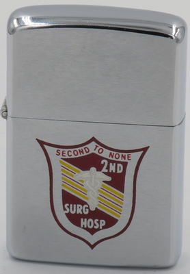 1968 Zippo with the logo of the 2nd Surgical Hospital - Second to None