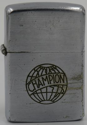 1947-49 Zippo with line-drawn Champion logo