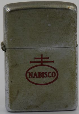 1949-51 Zippo with Nabisco logo. Nabisco is among the world's largest manufacturers of cookies and crackers, featuring such famous brands as Oreo, Fig Newtons, and Premium Saltines.  The company was formed in 1898 as the National Biscuit Company. The name  Nabisco  is first used as part of a name for a sugar wafer in 1901