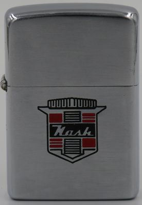 1949-51 Zippo with a Nash logo. Nash Motors Company was an American automobile manufacturer based in Kenosha, Wisconsin from 1916 to 1937. From 1937 to 1954, Nash Motors was the automotive division of the Nash-Kelvinator Corporation. Nash production continued from 1954 to 1957 after the creation of American Motors Corporation